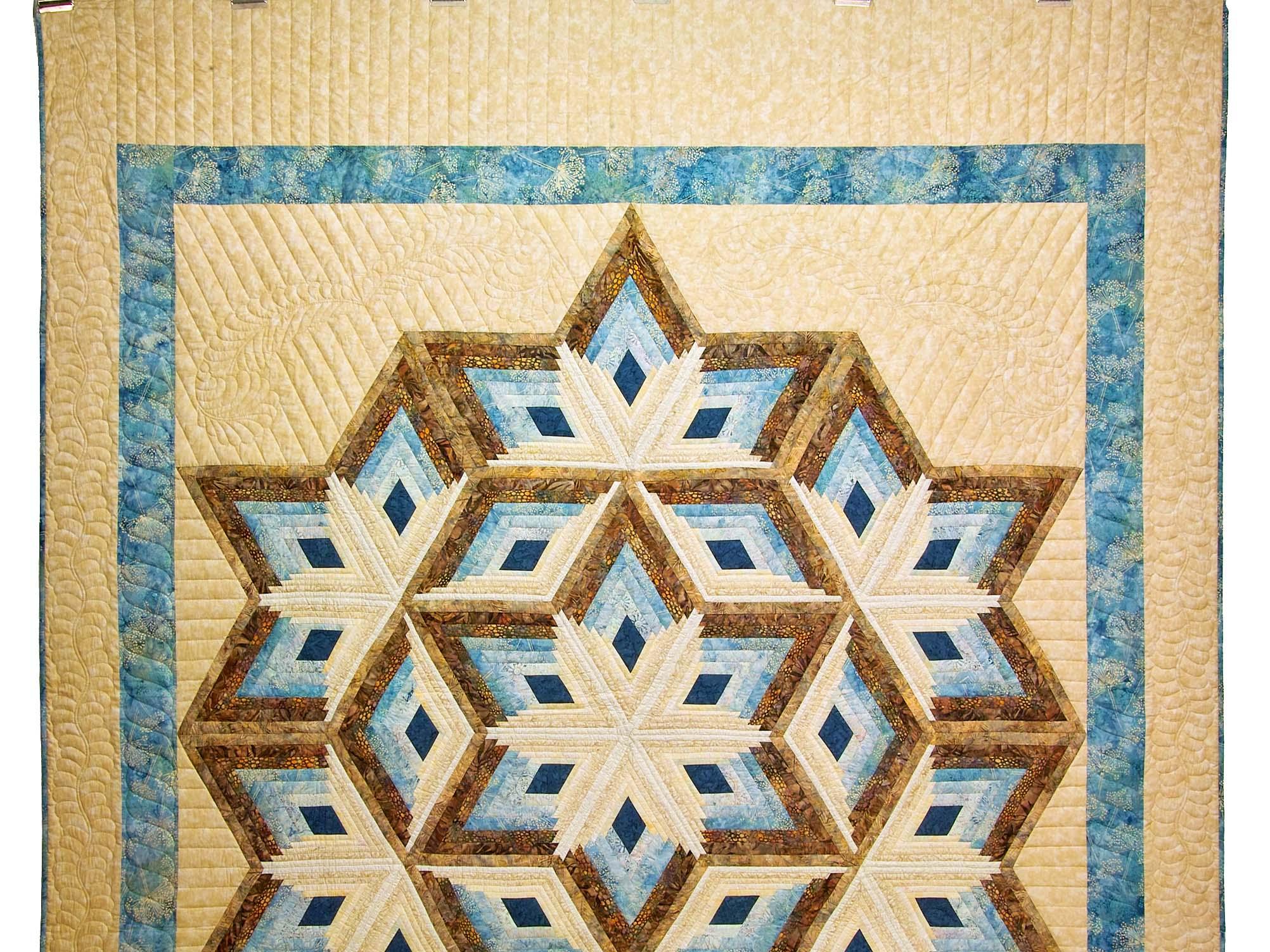 Diamond Log Cabin Star Quilt Pattern