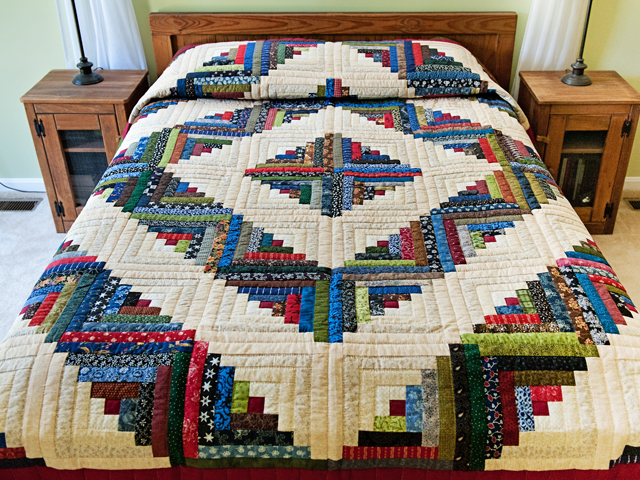 Multicolor Traditional Log Cabin Quilt Hannah S Quilts