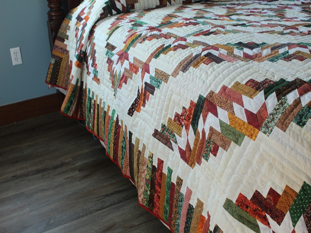 Autumn Timberline Log Cabin Quilt Hannah S Quilts
